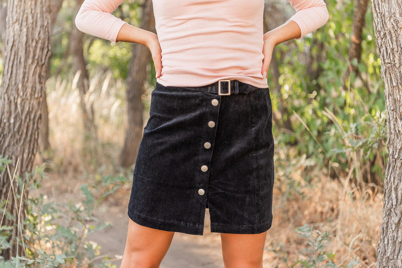 Can't Wait Corduroy Mini Skirt