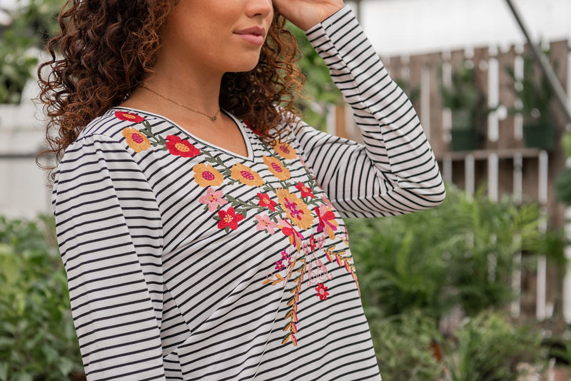 Simply Perfect Embroidered Top