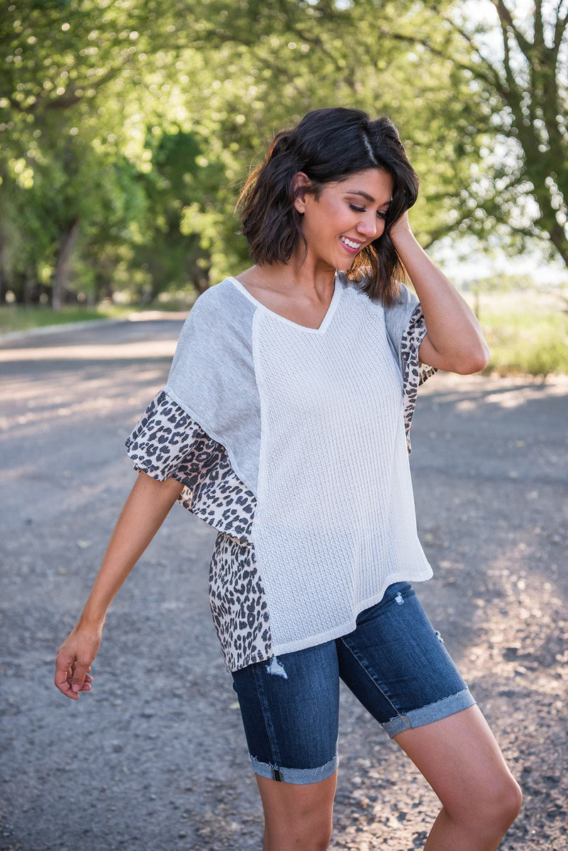 Pure Romance Contrast Top