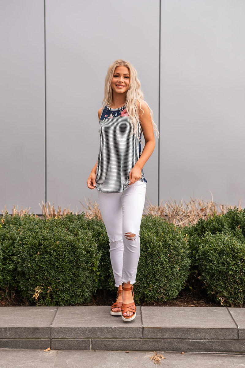 Carefree Girl Contrast Tank