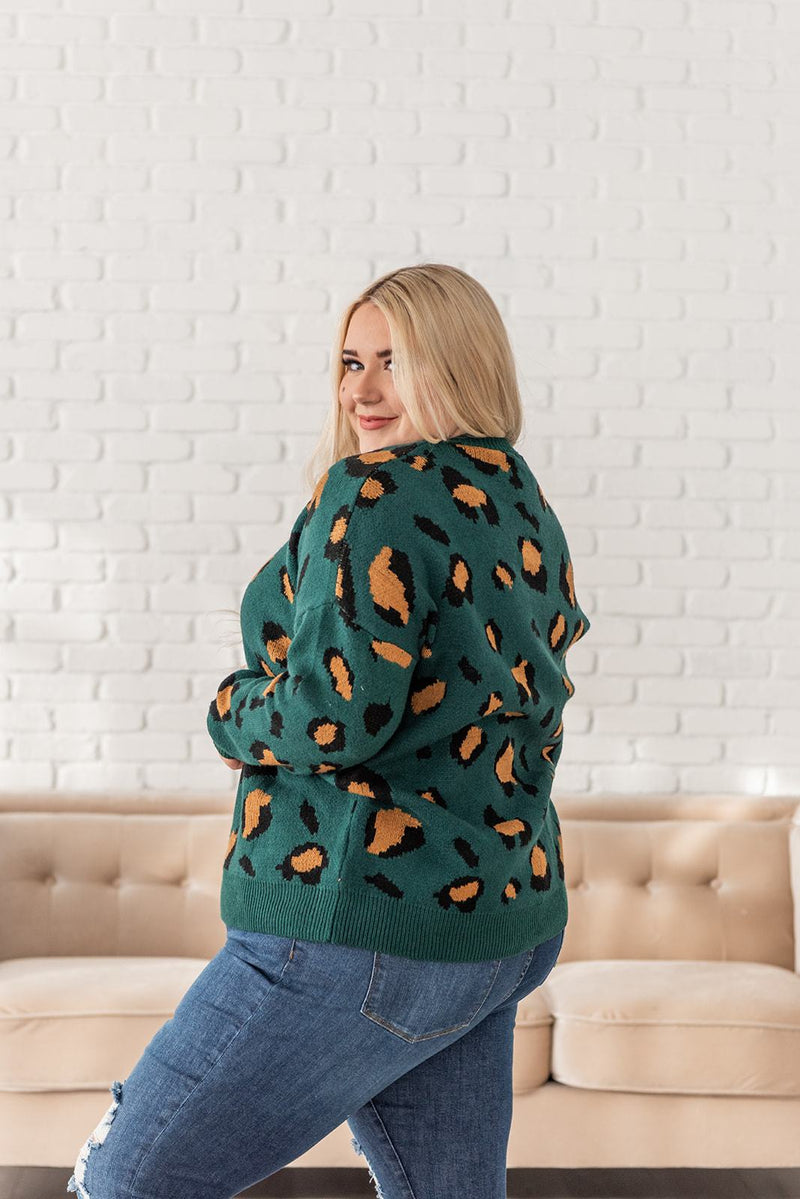 Lost In The Moment Leopard Sweater- Plus