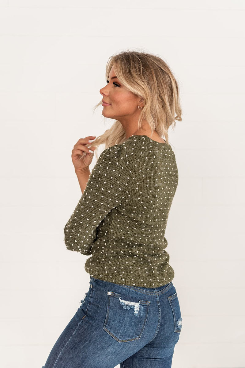 All You Need To Know Sweater- Olive