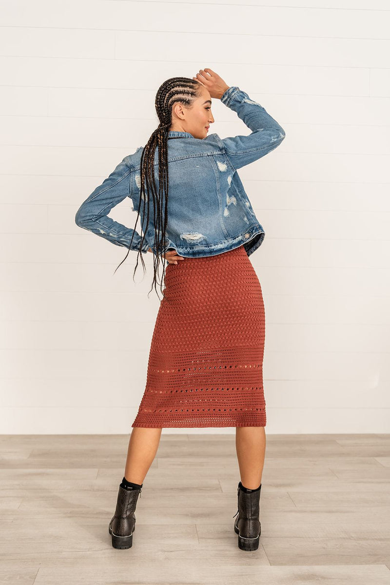 In The Moment Crocheted Skirt