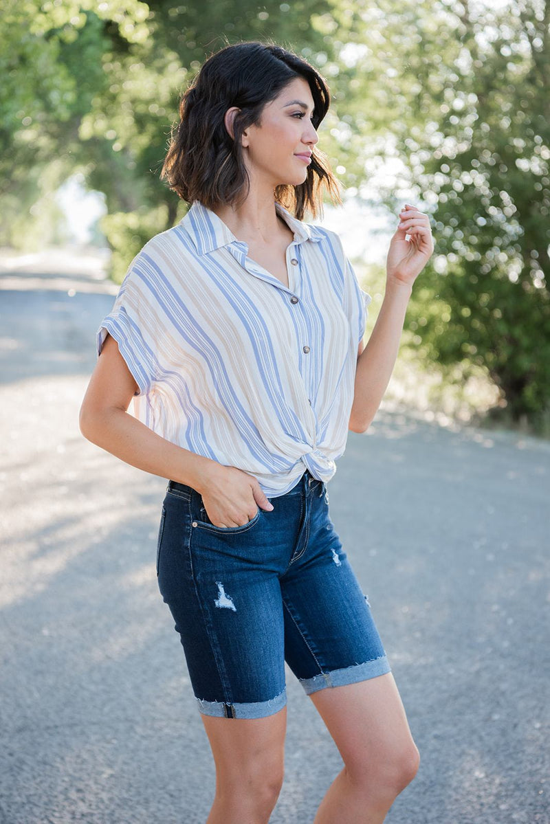 Coastal Breeze Knot Top