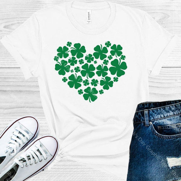 Shamrock Heart St. Patricks Day Graphic Tee Graphic Tee