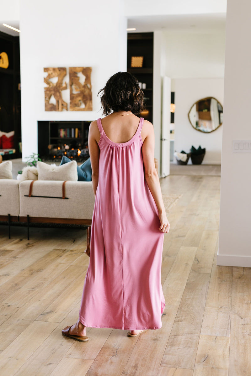 Sheer Perfection Shirred Maxi