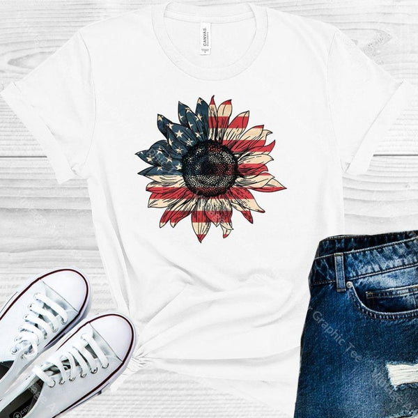 Vintage Americana Sunflower Graphic Tee Graphic Tee