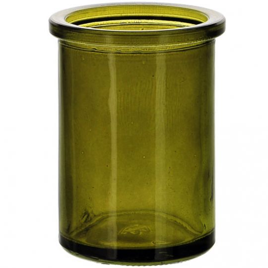 5.5oz Candle Round Vintage Green Glass