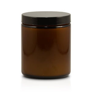 "7.2oz Amber Straight Sided Jar ""Apple Jack"""