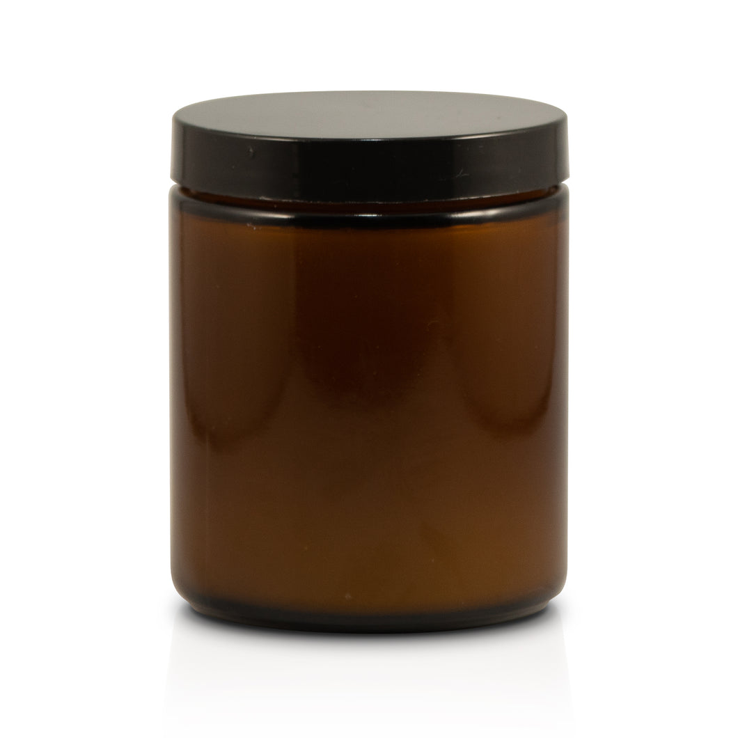 7.2oz Amber Straight Sided Jar