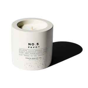 "8oz Concrete Candle ""Pavot"" No. 5"