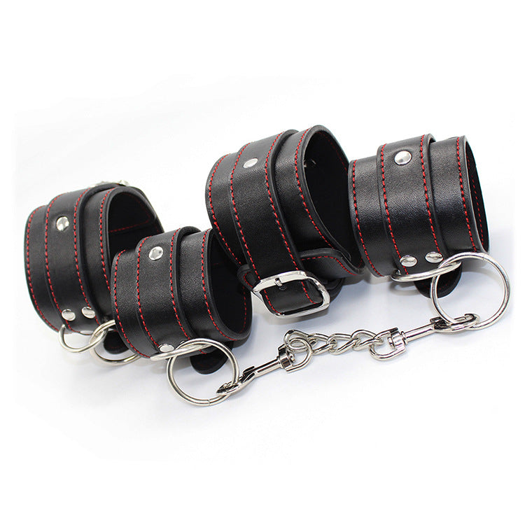Real leather Bdsm bondage kit