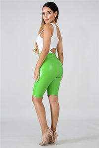 Women Trousers Fashion PU Shorts