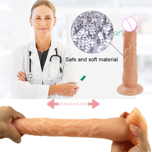 Realistic Skin Huge Dildo With Suction Cup