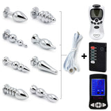 Stainless Steel Electric Shock Anal Plugs