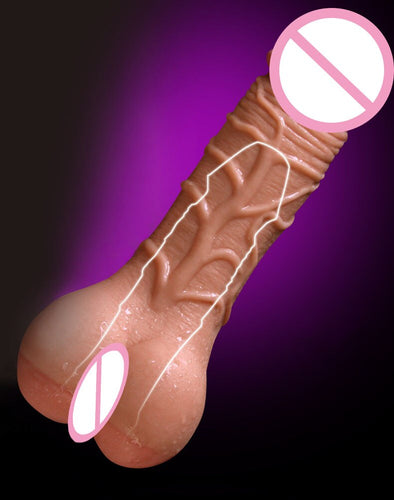 Huge Realistic Dildo + Anal Sex Male Masturbator