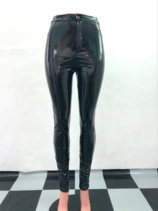 PU Leather Pants Women Fashion