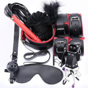 Leather & Plush BDSM Kit