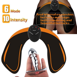 Metal Wearable Anal Plug Electro Shock Stimulation