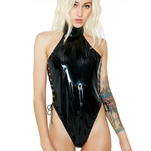 Sexy Wet Look Bodysuit