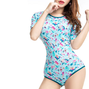 Adult Little Girl Snap Crotch Romper