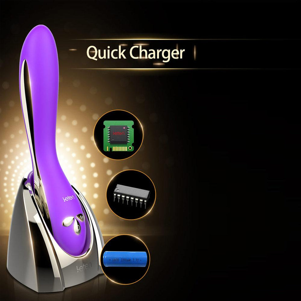 Ergonomic Vibrator with Fast Charging Base
