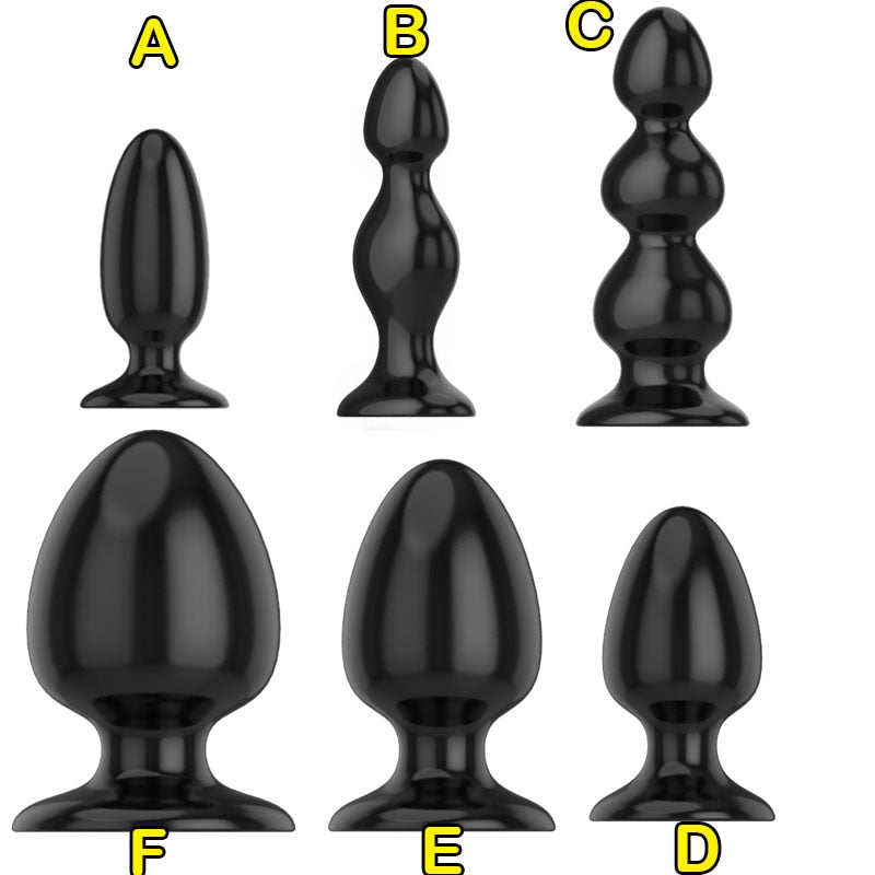 Black Silicone Huge Butt Plug