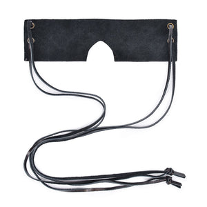 Brown Vintage Genuine Leather Sex Eye Mask