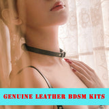 Real Leather BDSMLeather Necklace Kits