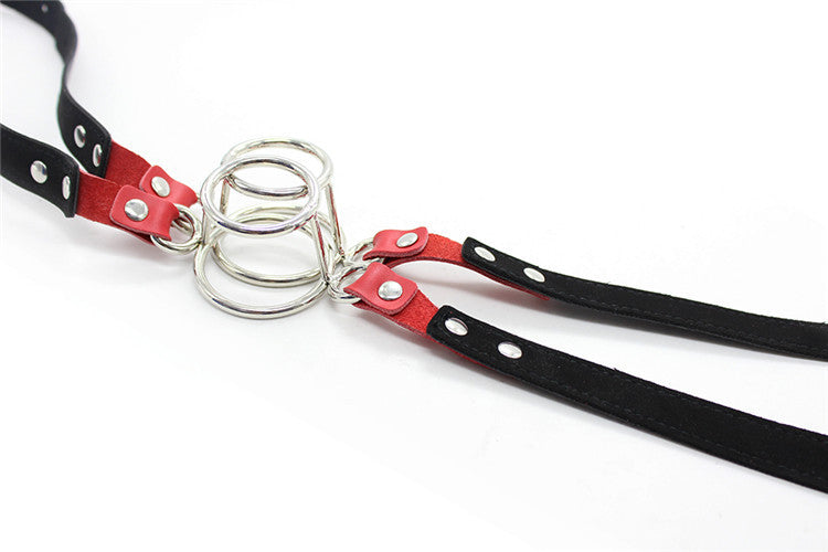 Double Round Ring Flail Open Mouth Gag
