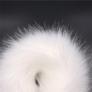 White Fox Tail Anal Plug