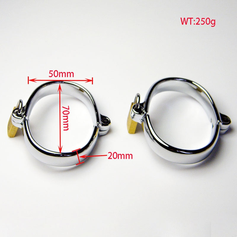 High quality metal bdsm women/men hand cuffs