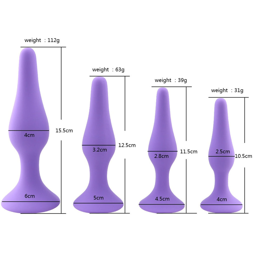 Ultra Smooth Anal Butt Plug- Multiple Sizes