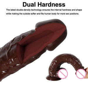 Realistic Big Dildo with Strong Suction Cup for Hand-Free Play