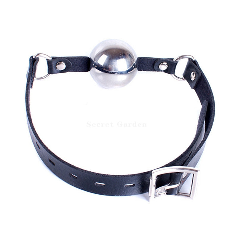 Large Stainless Steel Open Mouth Ball Gag