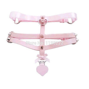 MDLG DDLG Pastel Pink Genuine Leather Thigh Harness