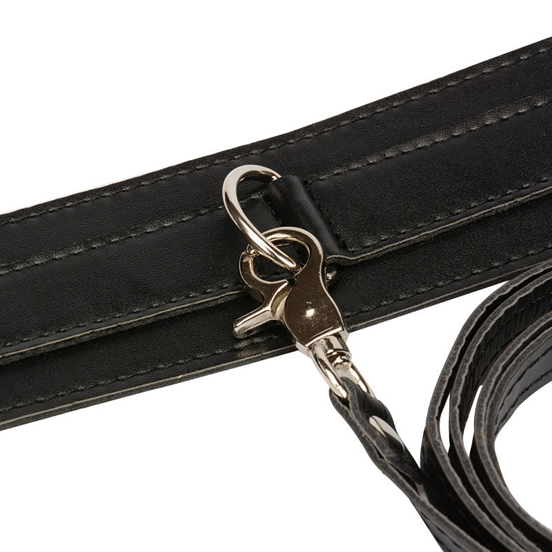 Genuine Leather BDSM Choker & Leash