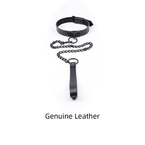 Genuine Leather Collar & Leash