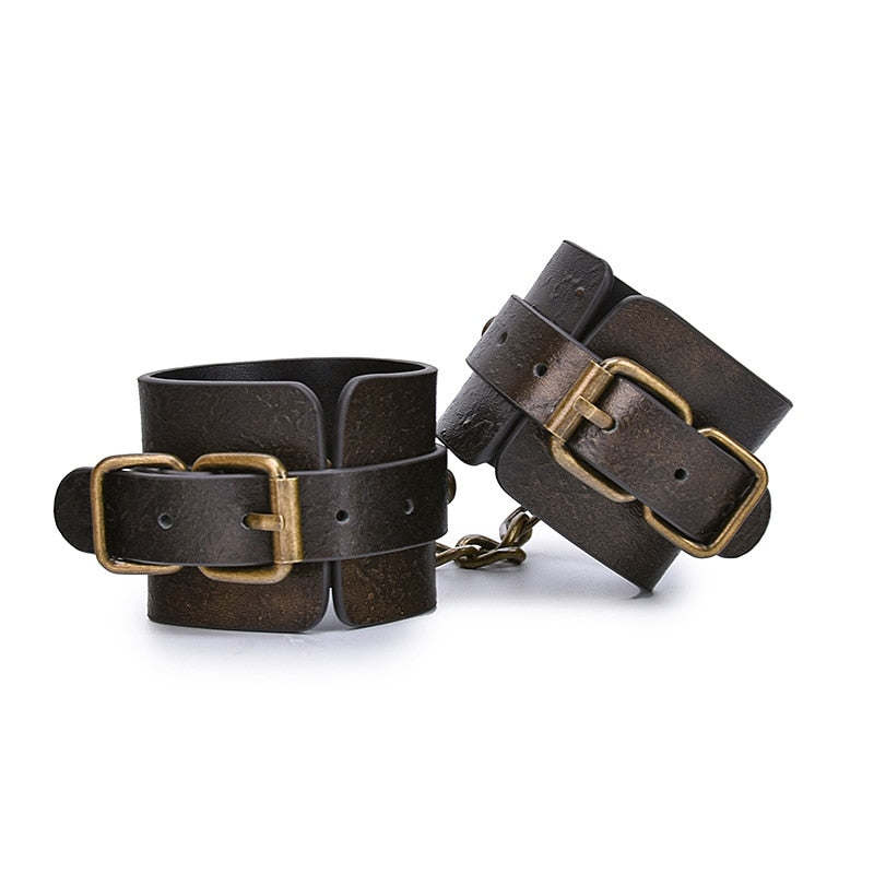 3pcs/set Genuine Leather Bondage Set