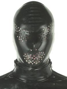 100% Natural Latex Hood with Holes,Hood, online bondage shop