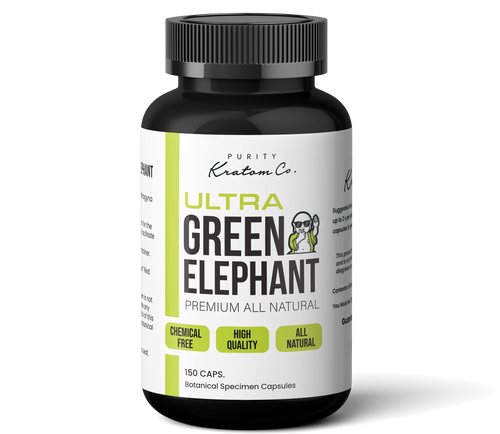 Ultra Green Elephant  (Finely Packed Kratom Capsules - 500mg per Capsule)