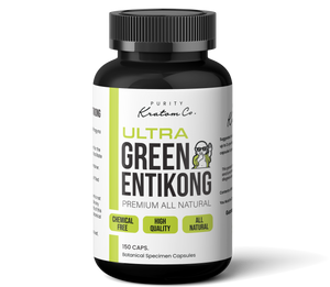Ultra Green Entikong (Finely Packed Kratom Capsules - 500mg per Capsule)
