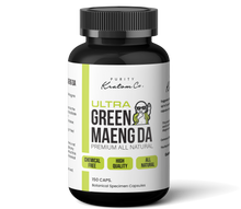 Load image into Gallery viewer, Ultra Green Maeng Da (Finely Packed Kratom Capsules - 500mg per Capsule)