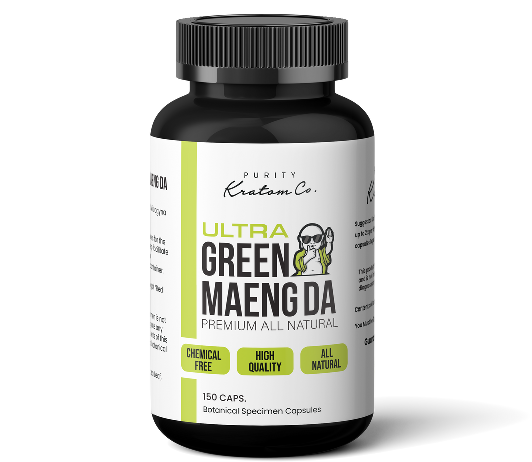 Ultra Green Maeng Da (Finely Packed Kratom Capsules - 500mg per Capsule)