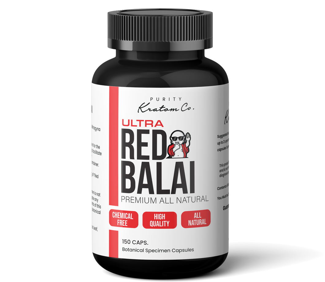 ULTRA Red Balai (Finely Packed Kratom Capsules - 500mg per Capsule)