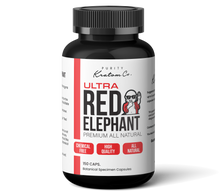 Load image into Gallery viewer, ULTRA Red Elephant (Finely Packed Kratom Capsules - 500mg per Capsule)