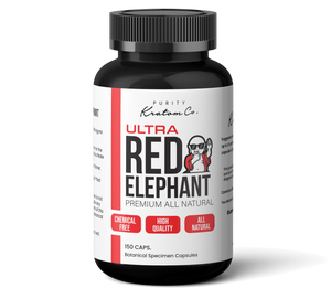ULTRA Red Elephant (Finely Packed Kratom Capsules - 500mg per Capsule)