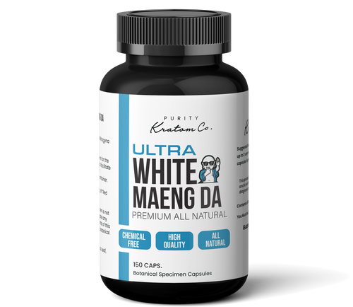 ULTRA White Maeng Da (Finely Packed Kratom Capsules - 500mg per Capsule)