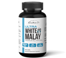 Load image into Gallery viewer, ULTRA White Malay (Finely Packed Kratom Capsules - 500mg per Capsule)