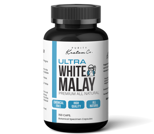 ULTRA White Malay (Finely Packed Kratom Capsules - 500mg per Capsule)